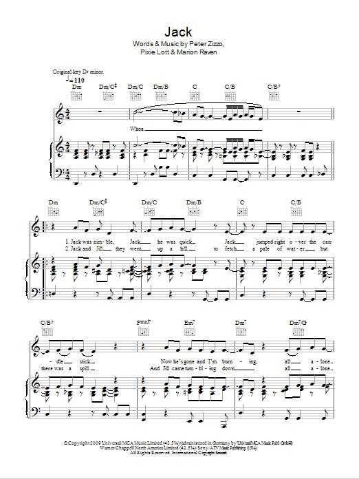 Jack Sheet Music