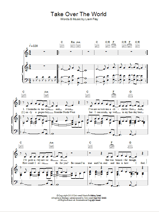 Take Over The World Sheet Music
