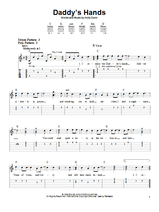 Daddy's Hands Sheet Music