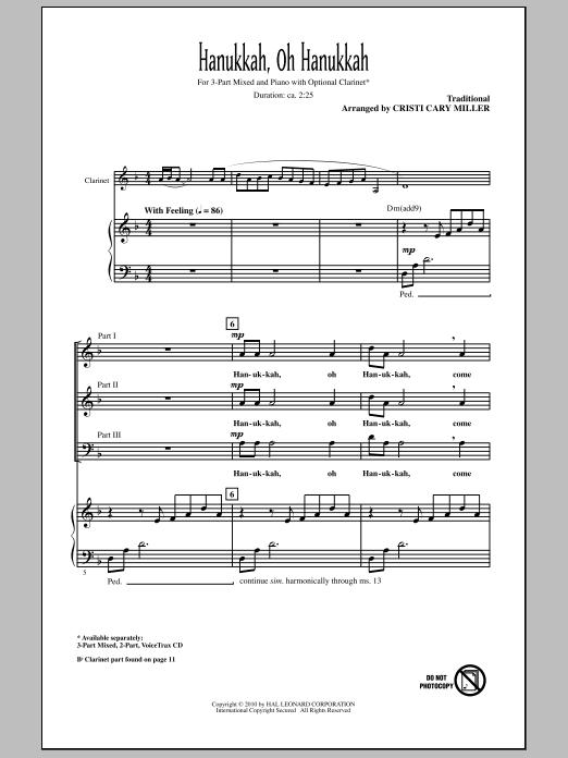 Hanukkah, Oh Hanukkah (3-Part Mixed Choir)