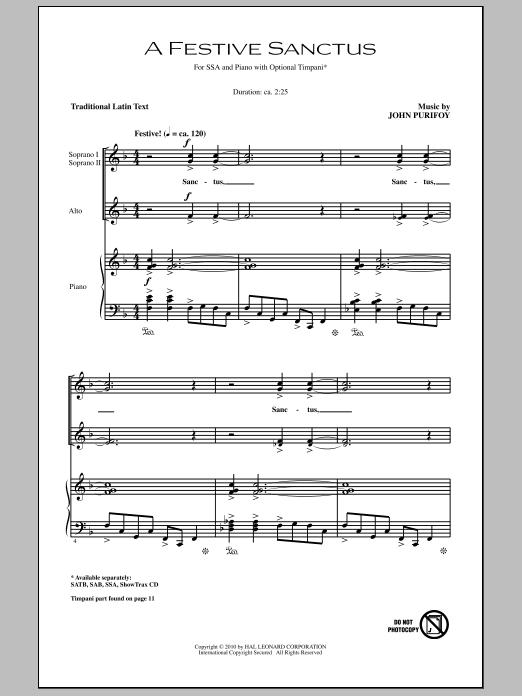 A Festive Sanctus Sheet Music