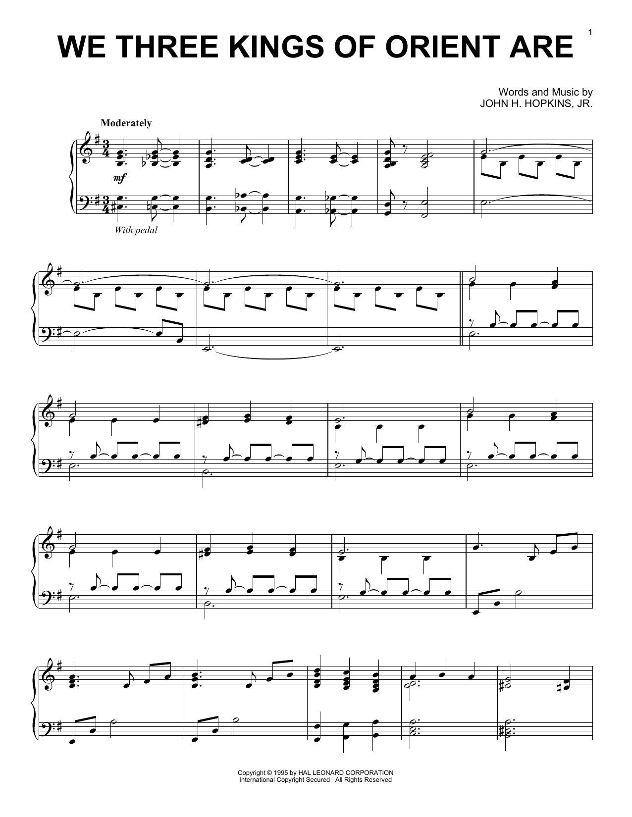 We Three Kings Of Orient Are Sheet Music