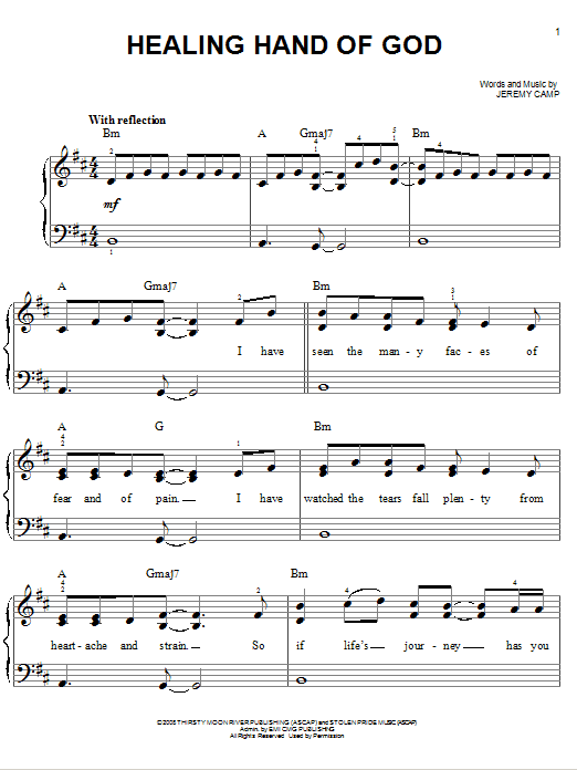 Healing Hand Of God (Easy Piano)