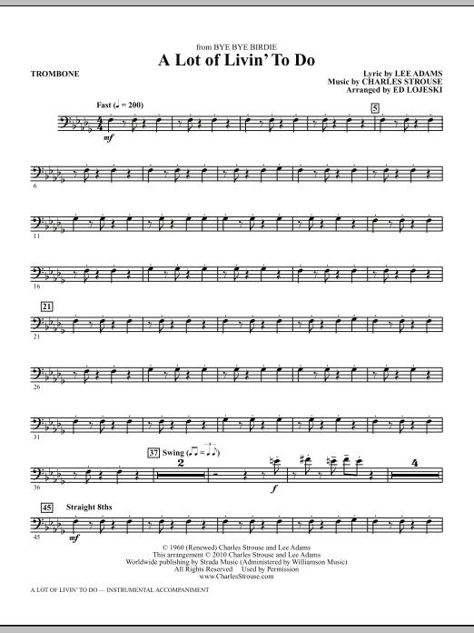 A Lot Of Livin' To Do - Trombone (Choir Instrumental Pak)