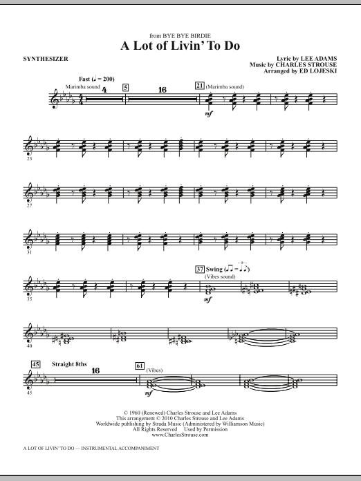 A Lot Of Livin' To Do - Synthesizer (Choir Instrumental Pak)
