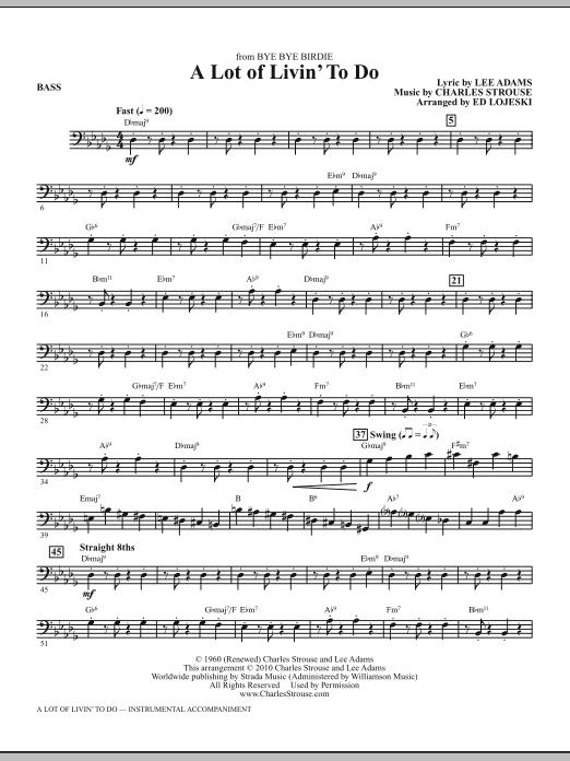 A Lot Of Livin' To Do - Bass (Choir Instrumental Pak)