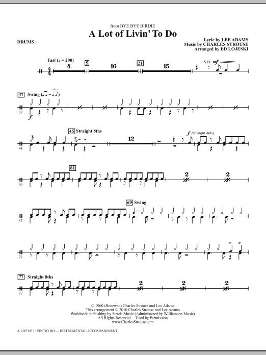 A Lot Of Livin' To Do - Drums (Choir Instrumental Pak)