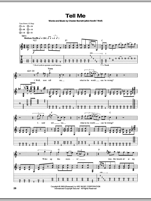 Tell Me (Guitar Tab)