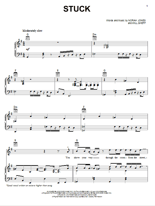 Stuck Sheet Music