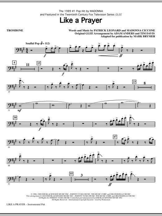Like A Prayer - Trombone (Choir Instrumental Pak)