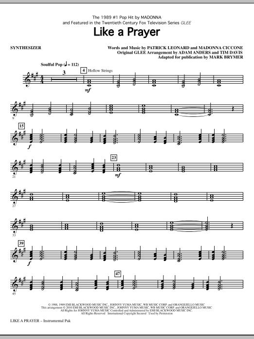 Like A Prayer - Synthesizer (Choir Instrumental Pak)