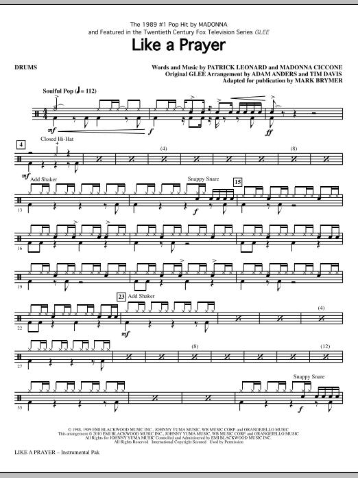 Like A Prayer - Drums Sheet Music