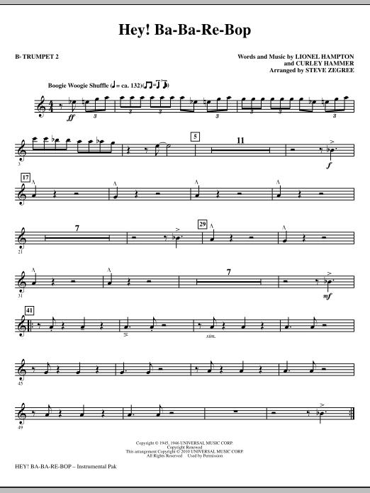 Hey! Ba-Ba-Re-Bop - Bb Trumpet 2 Sheet Music
