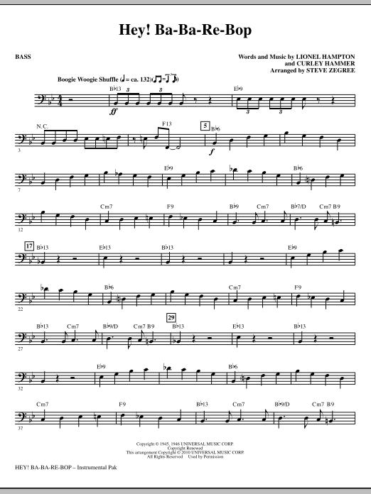 Hey! Ba-Ba-Re-Bop - Bass Sheet Music