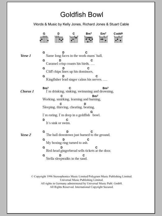 Goldfish Bowl Sheet Music