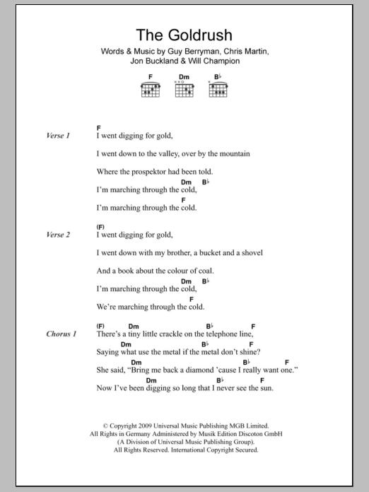 The Goldrush Sheet Music