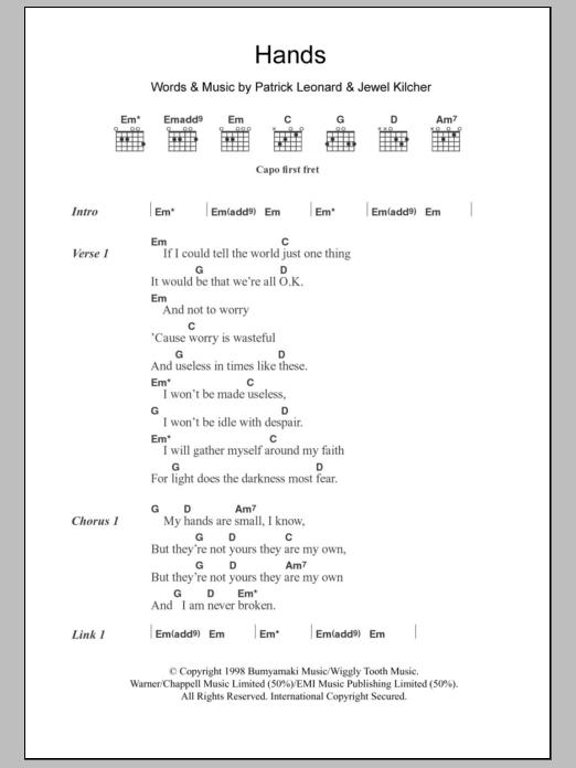 Hands Sheet Music