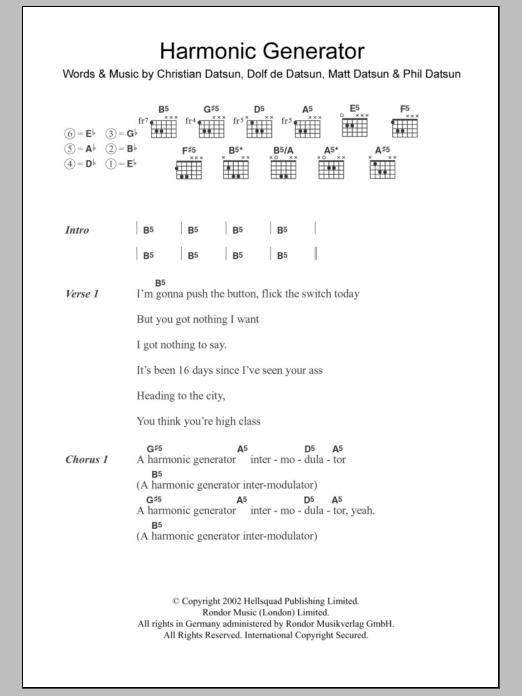 Harmonic Generator Sheet Music