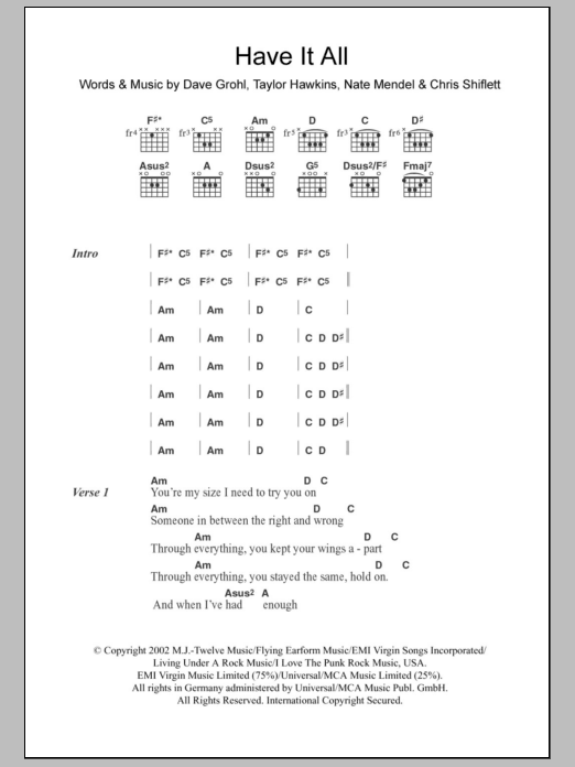 Have It All Sheet Music