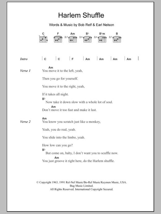 Harlem Shuffle Sheet Music
