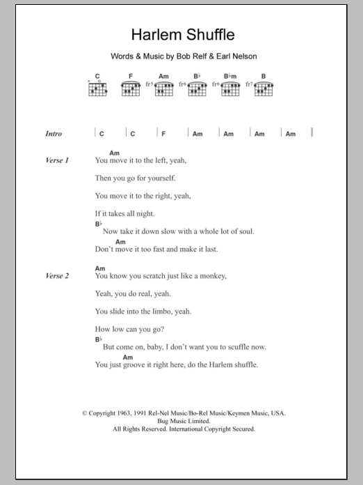 Harlem Shuffle | Sheet Music Direct