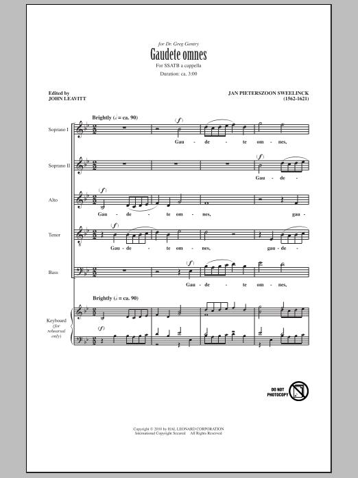 Gaudete Omnes Sheet Music