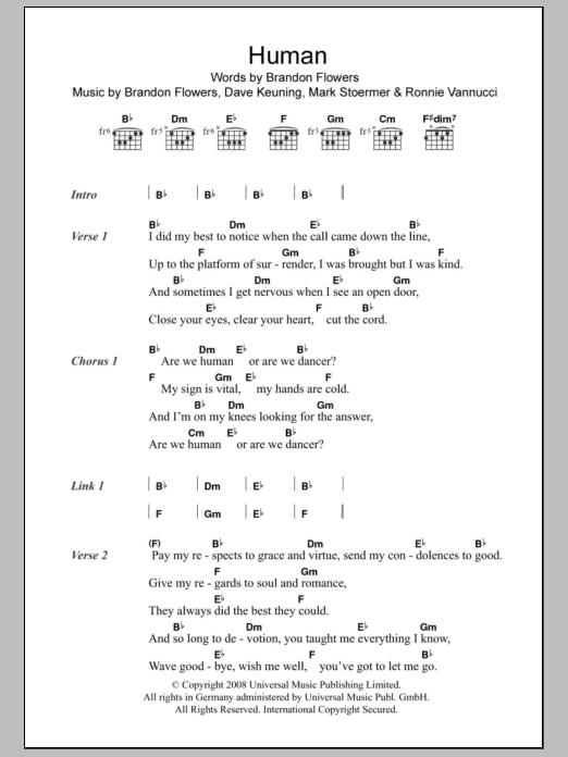 Human | Sheet Music Direct