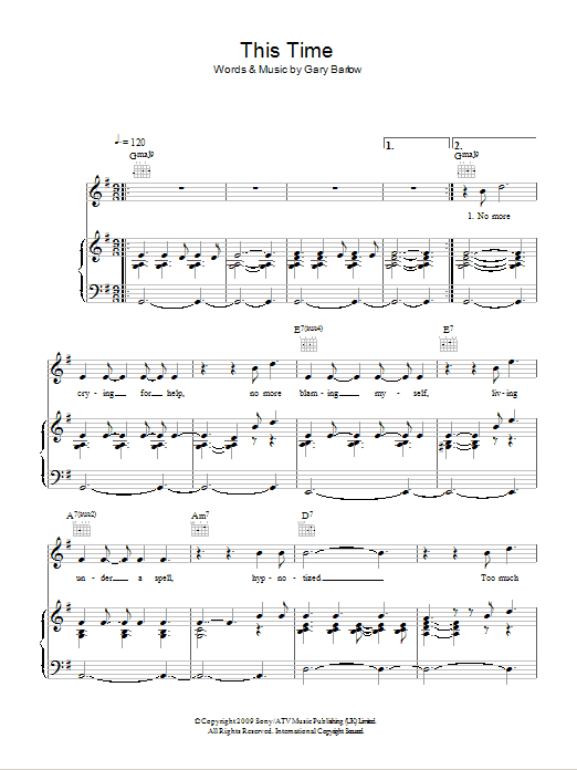 This Time Sheet Music