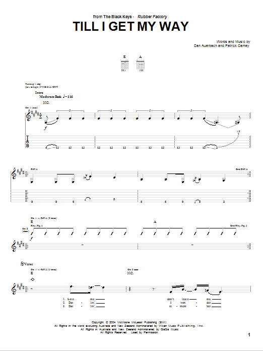 Till I Get My Way Sheet Music