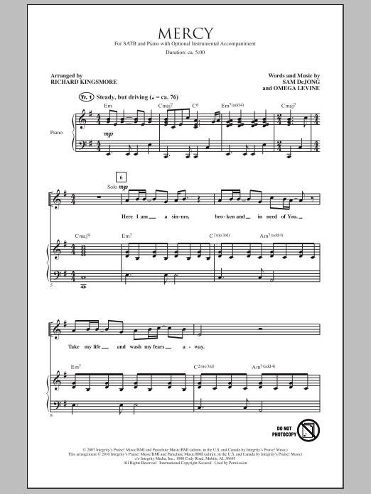 Mercy Sheet Music