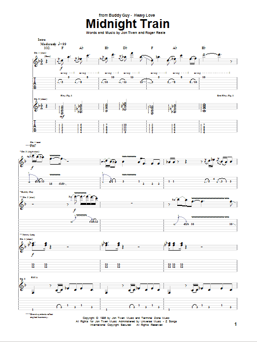 Midnight Train Sheet Music