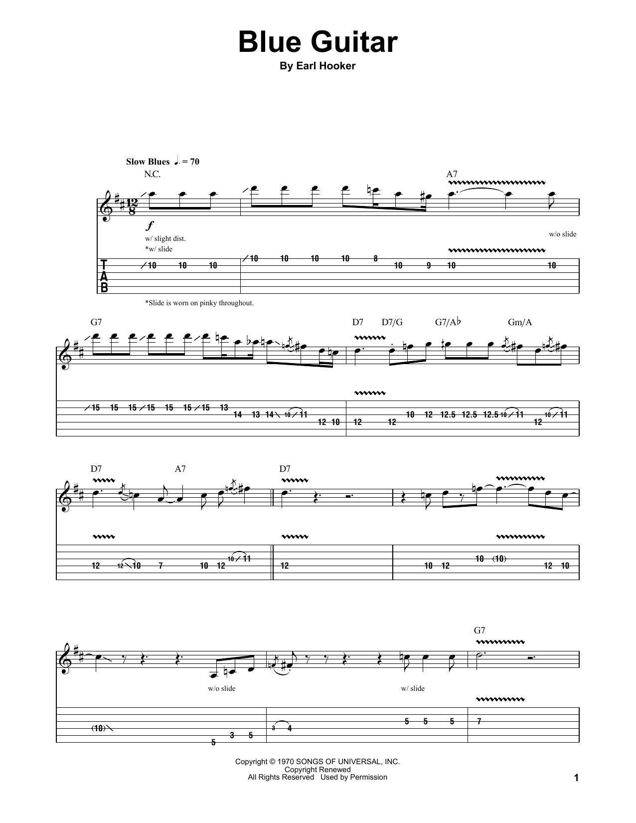 Blue Guitar Sheet Music
