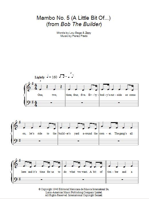 Mambo No. 5 (A Little Bit Of... ) Sheet Music