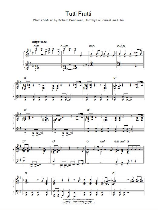 Tutti Frutti (Piano Solo)