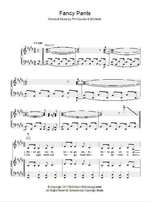Fancy Pants Sheet Music