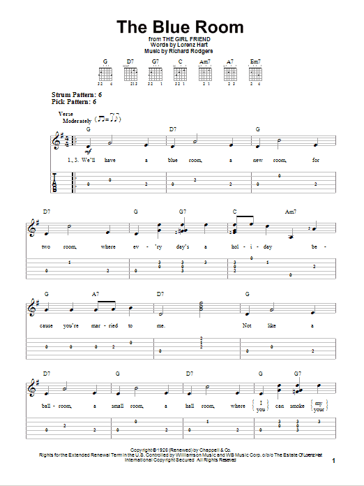 The Blue Room Sheet Music