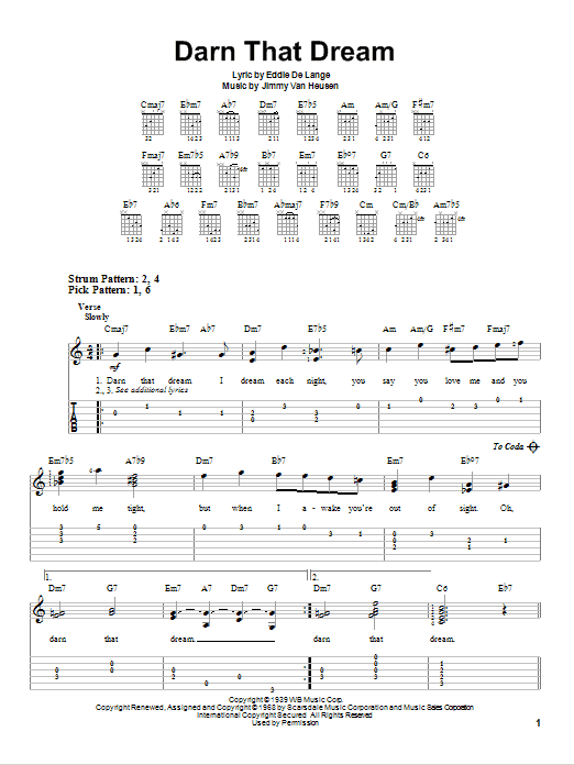 Darn That Dream (Easy Guitar Tab)