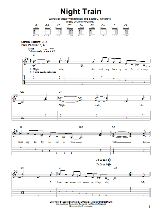 Night Train Sheet Music