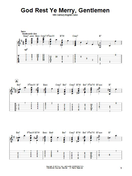 God Rest Ye Merry, Gentlemen (Solo Guitar)
