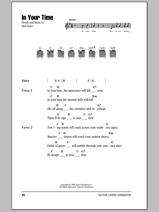 In Your Time (Guitar Chords/Lyrics)