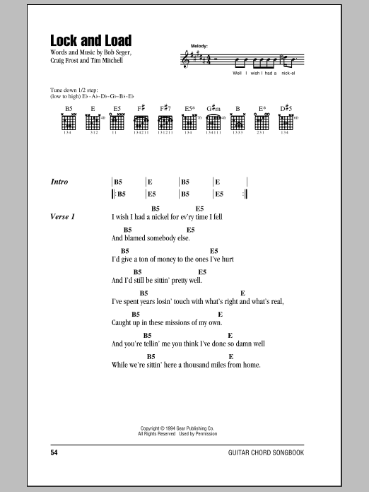 Lock And Load (Guitar Chords/Lyrics)