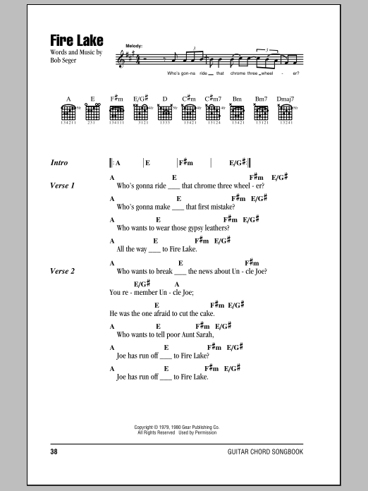Fire Lake Sheet Music