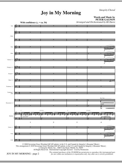 Joy In My Morning - Full Score (Choir Instrumental Pak)