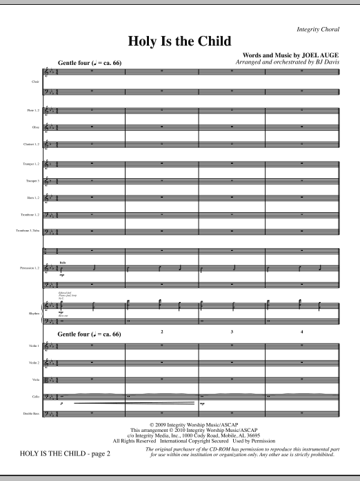 Holy Is The Child - Full Score Sheet Music