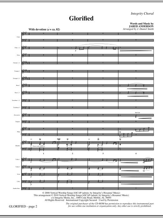 Glorified - Full Score (Choir Instrumental Pak)