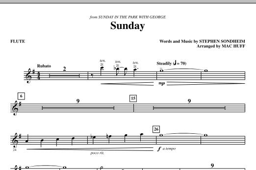 Sunday - Flute (Choir Instrumental Pak)