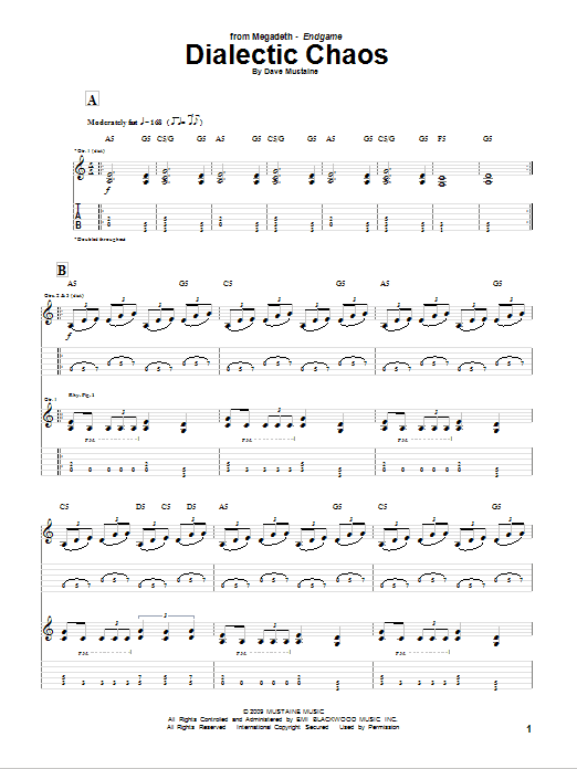 Dialectic Chaos Sheet Music