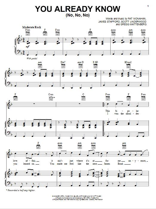 You Already Know (No, No, No) Sheet Music