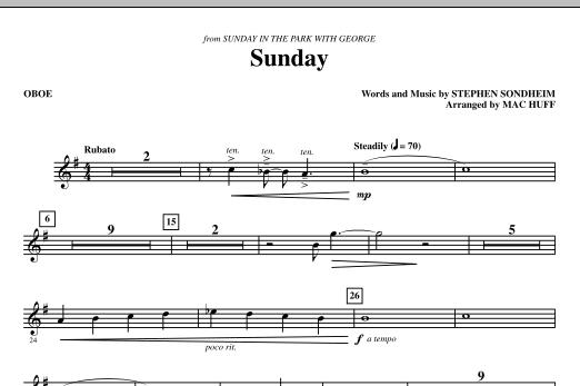 Sunday - Oboe (Choir Instrumental Pak)