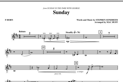 Sunday - F Horn (Choir Instrumental Pak)